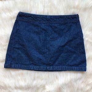 BDG Canary Blue Jean Denim Mini Skirt